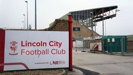 A general view outside of the ground before the Sky Bet League One match at the LNER Stadium, Lincol