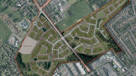 Architects' image of the Persimmon development on the former Royal Norwich Golf Club.