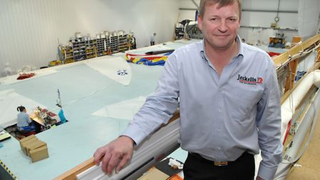Chris Jeckells: current boss of Jeckells which has been making sails for seven generations.