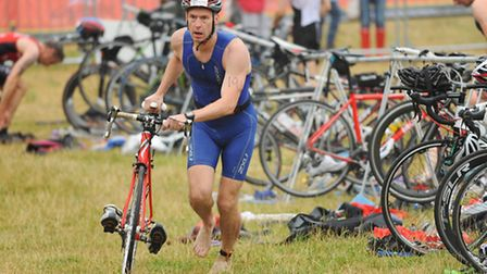 Competitors in the Norwich Triathlon at Whitlingham Broad. Picture: DENISE BRADLEY