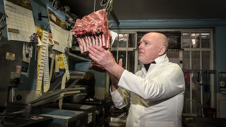 George Debman, owner of Debman Butchers in Cliff Lane. Picture: Sarah Lucy Brown