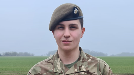 Cadet Sgt Dominic Smith was presented with the award last week