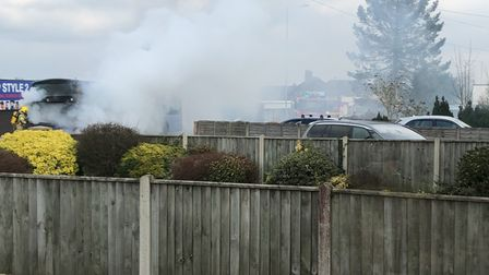 Alistair Harnden saw smoke pouring from the back of the bus on Plumstead Road.