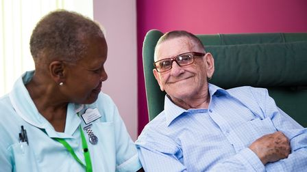 Patients supported by the Arthur Rank Hopice Charityand Alan Hudson Day Treatment Centre.