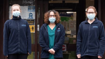 The volunteers at the health centre have been praised for their efforts