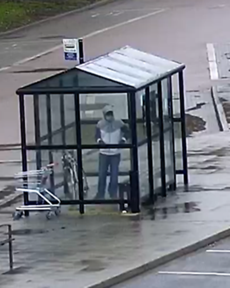 The man fled from the store with cash