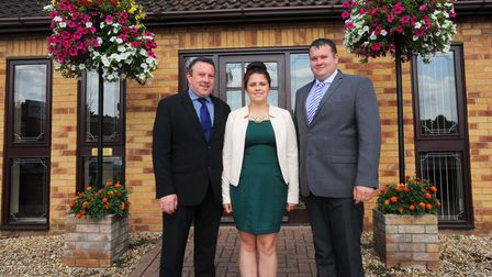 Mark Skinner, funeral director in Brandon and Thetford welcome his children Lauren and Sam to the bu