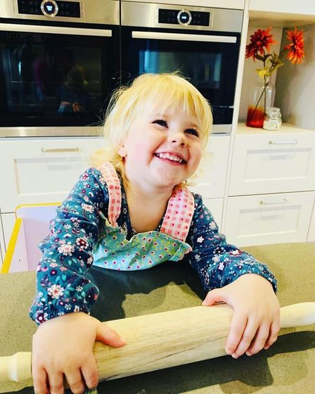 Charlotte Bennett's two-year-old daughter Lily.