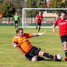 Doddington United in action against Little Downham & Pymoor Swifts Reserves during a Cambs League match.