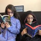 The Shade pupils reading at home for World Book Day