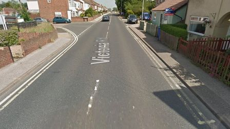 Emergency services were called to Victoria Road in Lowestoft after a woman in her 40s was injured in a fall.
