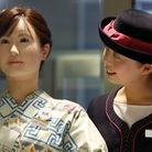 Future Voices: A sign of things to come? Android robot 'Aiko Chihira' is watched by information cler