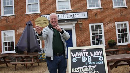 Worstead White Lady owner Dennis Gilligan, featured when he won the Four in a Bed TV show. Picture: