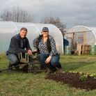 Jo Hull and Dave Carney show us how to make an easy no dig garden. Picture: SARAH LUCY BROWN