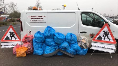 Bradley Smith said there are nearly 200 volunteer litter pickers in Sudbury and Great Cornard.