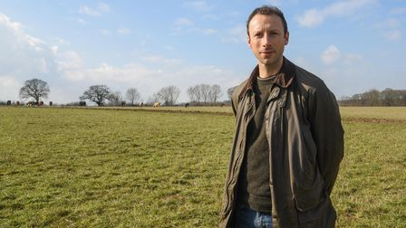 Rob Raven, farm manager at Somerleyton Estate, who is helping with the new re-wilding project. Pictu