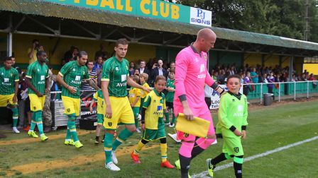 Norwich City unveiled their new away kit at Hitchin and now there is a third kit on the way. Picture