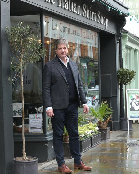 Antonio Bellini, owner of The Italian Shirt Shop in Ipswich Picture: SARAH LUCY BROWN