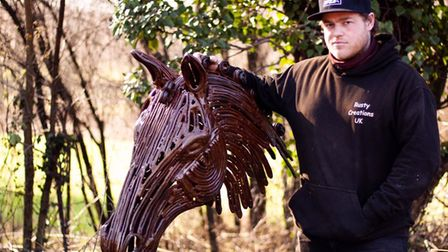 Billy Moulton Day started Rusty Creations as a hobby but is now hoping to make it a full time business