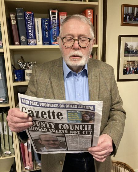 North Norfolk Labour Party secretary Martyn Sloman was among those who received a copy of the Norfolk Gazette.