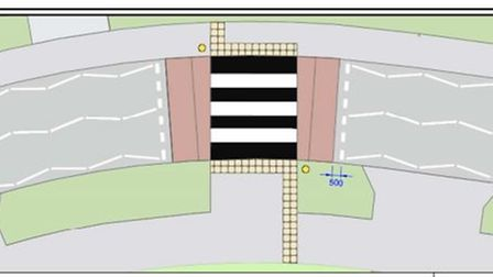 Thenew zebra crossing agreed by county council in Ely