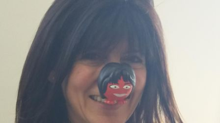 Emma, pictured backstage at a previous Red Nose Day