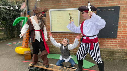The students were treated to a pirate-themed week on their return to school