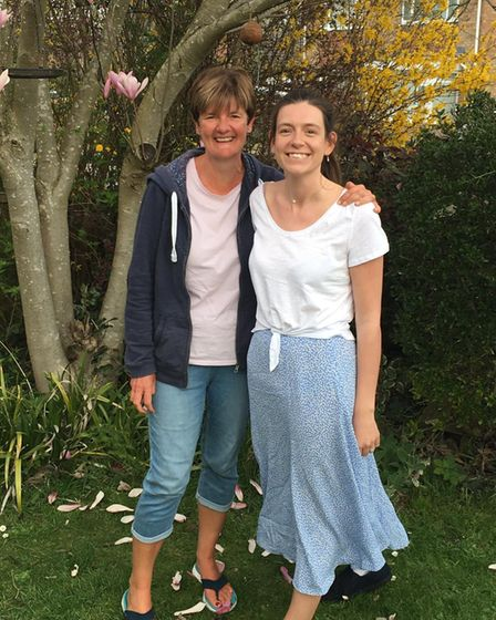 Ali Shorten and Meg Mann, who both work for West Suffolk NHS Foundation Trust.Mother's Day 2021.