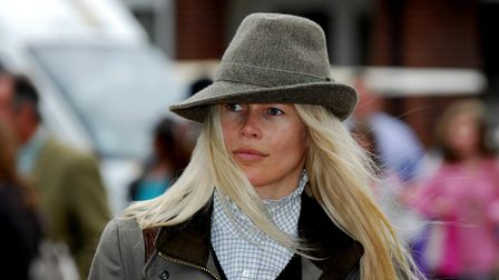 Claudia Schiffer and family stroll around the Suffolk Show 2008