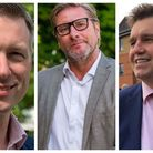 Combined authority facing crisis over housing. Mayor James Palmer (centre) is under fire from his main rivals in May...