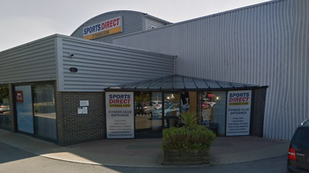 The Sports Direct Fitness gym in Bury St Edmunds, which could reopen as a store