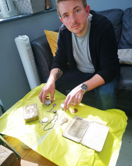 Adam Simpson-York from Ipswich has been reuniting people with their families long lost war medals.