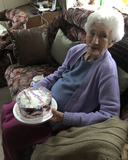 Alice Calaby on her 99th birthday