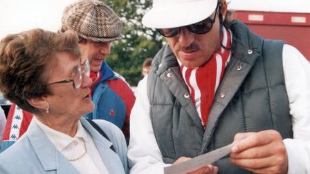Alice Calaby and Ian Botham