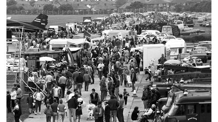 Crowdsflocked to the former Ipswich Airport to watch an air show in 1991