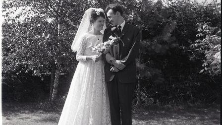 Lindyand Chrispictured on their wedding day on July 20th1963