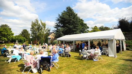 A garden party in 2015 at Manson House, Bury St Edmunds