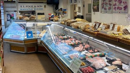 FL Edge and Son butcher in East Harling