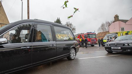 Colleagues across Cambridgeshire Fire and Rescue Service joined family and friends to say goodbye to on-call Cottenham...