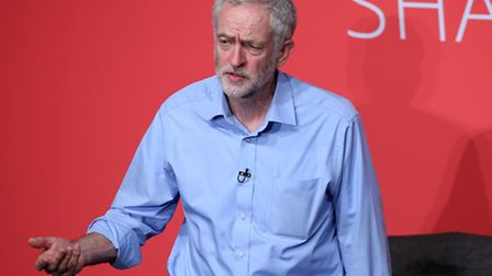 Jeremy Corbyn takes part in a Labour Party leadership hustings at Parr Hall, Warrington, Cheshire. P