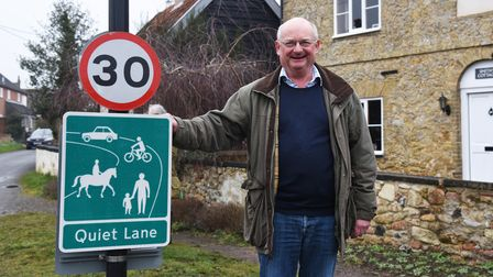 Councillor Andrew Reid. The first route of the Snape Quiet Lanes scheme has been revealed. Picture: