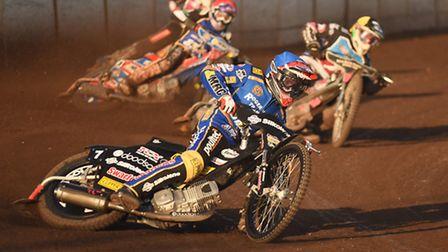 Lewis Kerr on the speedway track. Picture: Ian Burt