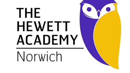 The new badge for the Hewett Academy, Norwich which will be used from September.