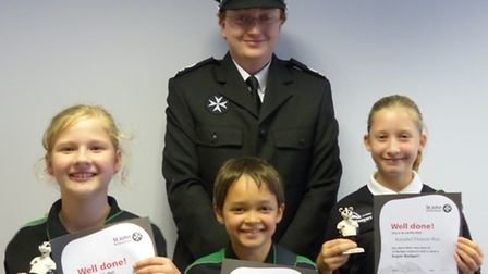 Chloe Cowles, Daniel Warnes and Annabel Francis-Ray with Chris Levis. Picture: Submitted