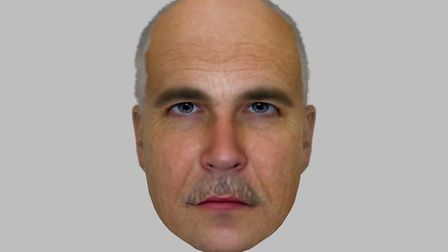 An e-fit image of the man sought by police in connection with a rape at Great Ryburgh.