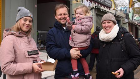 Pinniger family at Norwich Market.