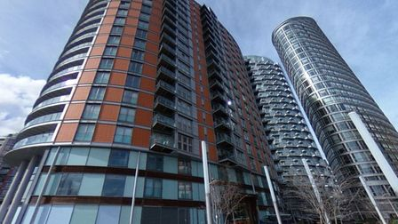 Hundreds of tower blocks have cladding in east London... like this Thameside development at Blackwall