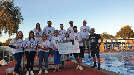 Aiden's Gift donated £3,500 to Beccles Lido last summer.