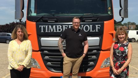 Staff at Timberwolf have raised more than £2,000 for Headway Suffolk