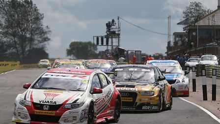 Gordon Shedden heads into this weekend with a 10-point lead.Picture: Jakob Ebrey